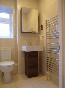 a fitted bathroom