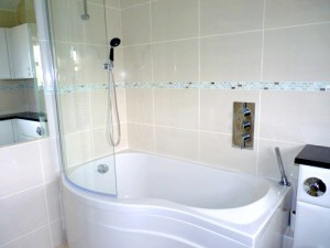 fitted bathroom bath and shower