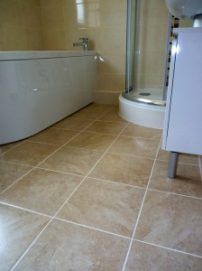 new fitted bathroom finishing