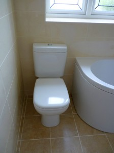 new fitted bathroom toilet